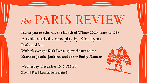 Winter Issue Launch: Join The Paris Review for an evening at the theater
