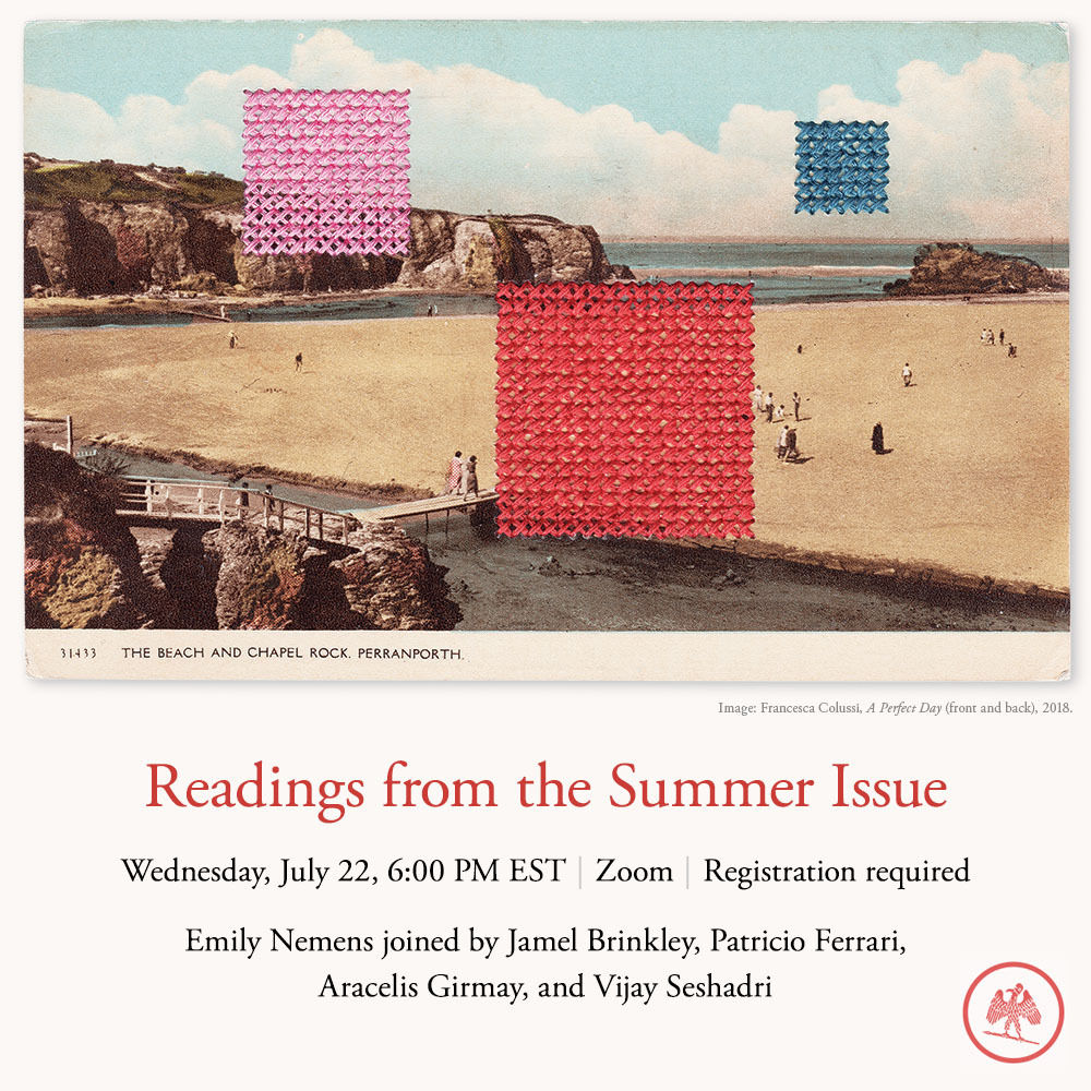 Past Event: Readings from the Summer Issue
