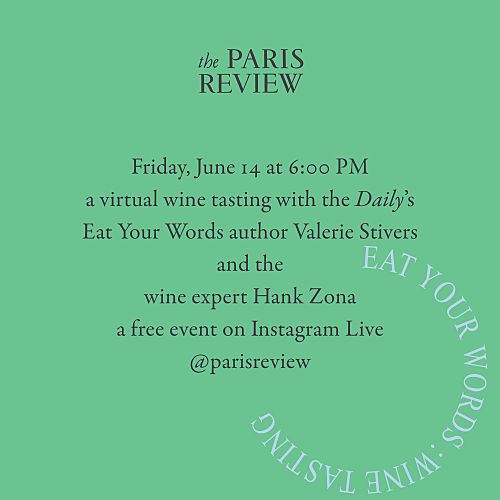Eat Your Words: Virtual Wine Tasting with Valerie Stivers and Hank Zona For Bloomsday!